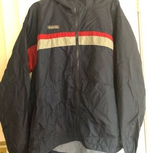 Vintage Navy Blue Columbia Windbreaker XL Men's